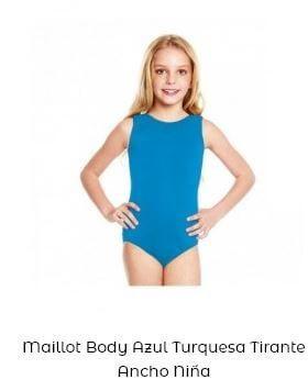 maillot danza niña tirante ancho