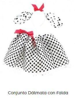 set falda disfraz dálmata perro