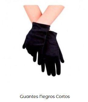 traje disfraz viuda negra guantes