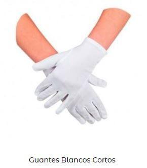 traje disfraz blanco viuda negra guantes