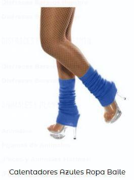 calentadores ropa de ballet para niñas azules