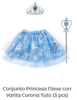 pack disfraz complementos cumpleaños frozen