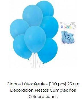 decoración cumpleaños frozen globos azul