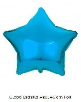 decoración cumpleaños frozen globos estrellas azul