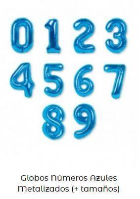 globos números frozen cumpleaños