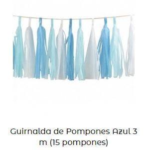 guirnalda pompones decoración fiesta cumpleaños frozen