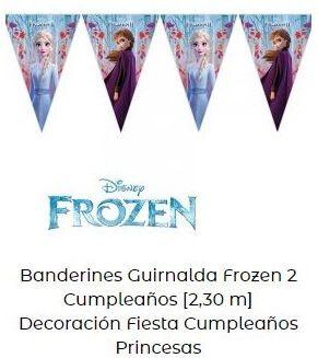 guirnalda fiesta temática cumpleaños  frozen