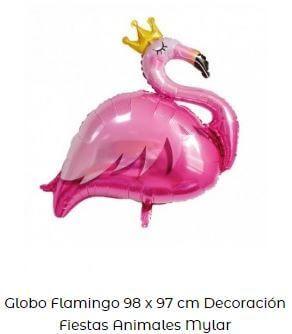 decoración fiesta animales globos flamenco
