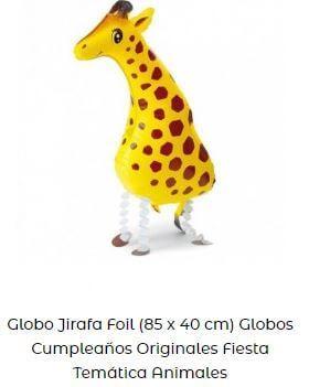 decoración fiesta animales globos jirafa