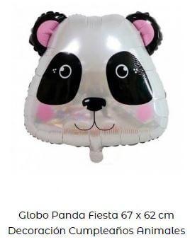 decoración fiesta animales globos oso panda