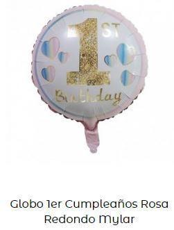 decoración fiesta cumpleaños globo un año
