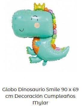decoración fiesta primer cumpleaños globos dinosaurio