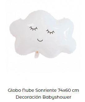 decoración fiesta primer cumpleaños globos nube