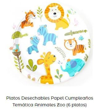 decoración día mundial animales platos