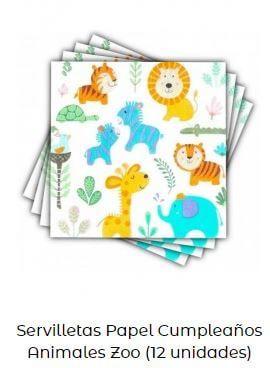 decoración día mundial animales servilletas