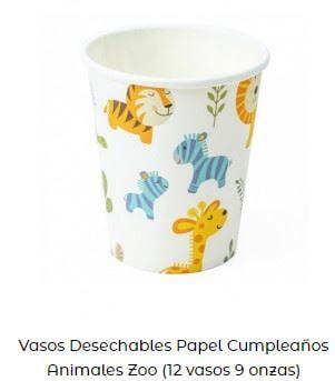 decoración día mundial animales vasos