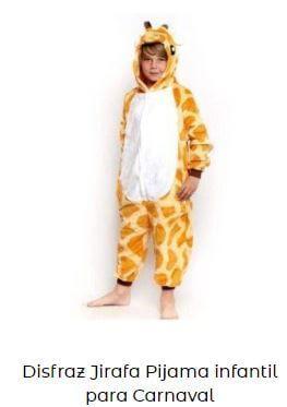 disfraces de animales de la selva niño jirafa