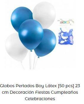 globos azul decoración cumpleaños bebé
