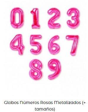 globos años rosa cumpleaños infantil