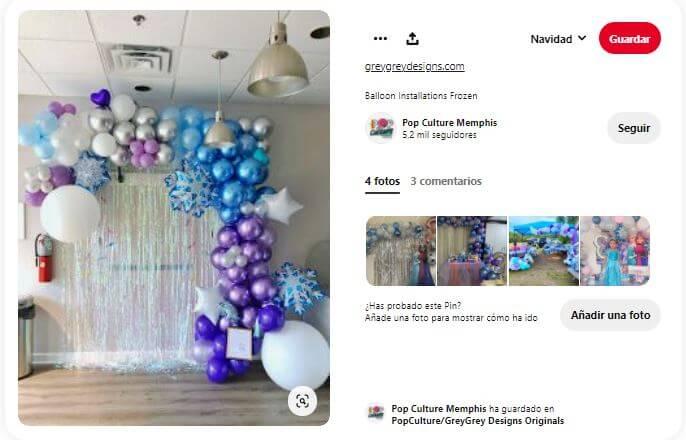 ideas diseño Frozen decoración
