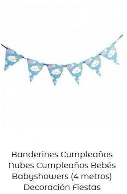decoración fiesta primer cumpleaños guirnalda