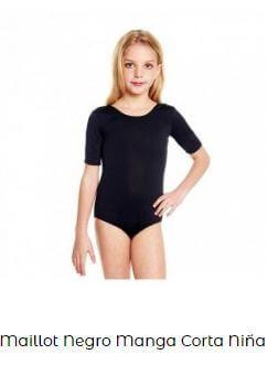 vestuario de ballet maillot manga corta niña