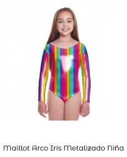 maillot metalizado niña multicolor ropa ballet