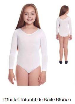 maillot ballet manga larga niña