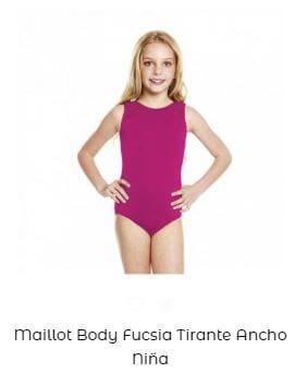 maillot tirante ancho vestuario de ballet niña