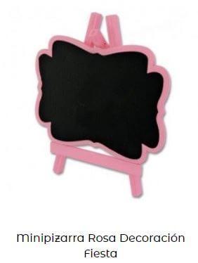 pizarra candy bar cumpleaños bebé rosa