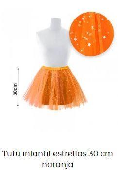 tutú naranja estrellas vestuario ballet