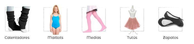 vestuario de ballet para niñas