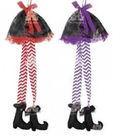 colgante bruja piernas para halloween fiesta