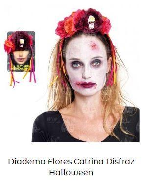 diadema disfraz catrina flores