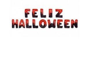 globos letras decoración halloween