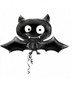 globos ideas decoración halloween murciélago