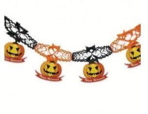 guirnalda calabaza decoración halloween fiesta