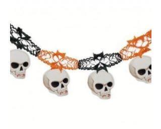 guirnalda calavera decoración halloween fiesta