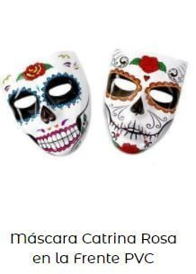 máscara disfraz catrina careta color