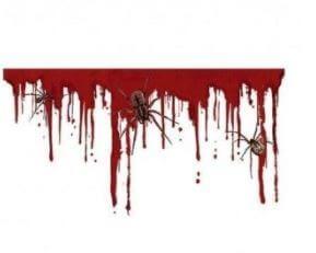 pegatinas sangre decoración halloween