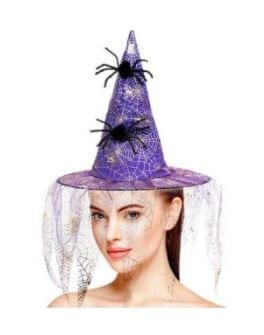 sombrero bruja con arañas