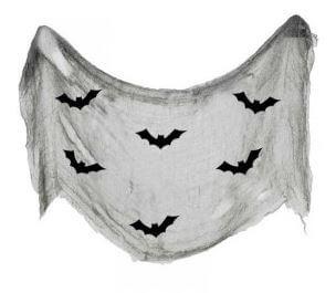 telaraña decoración halloween con murciélagos