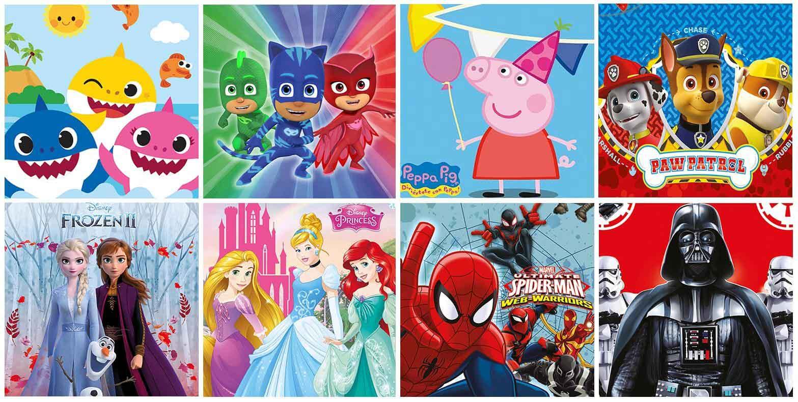Decoración Cumpleaños de Licencias Dibujos Animados