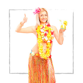 Disfraces Hawaiana